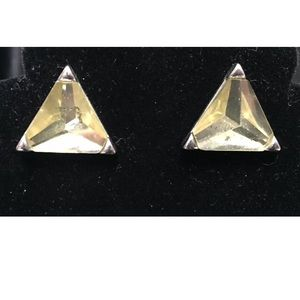 Jewelry - 🔵 5 for 15 Earrings Triangle Faceted Yellow Stone
